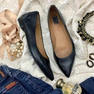 Frye Leather Sienna Ballet Flats - Sz 7.5 - Black